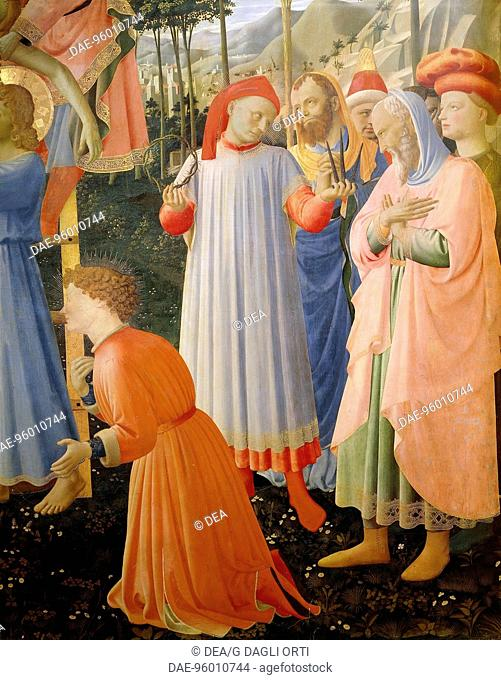 The The Deposition from the Cross or the Altarpiece of the Holy Trinity, ca 1432, by Giovanni da Fiesole known as Fra Angelico (1400-ca 1455), tempera on wood