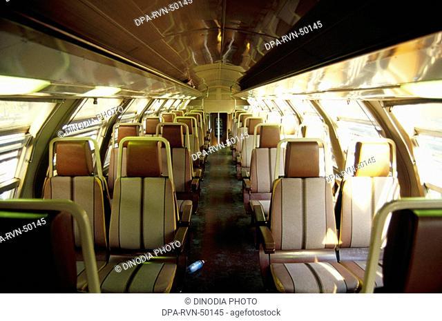 Trains Railways , internal view of train , milan , italy