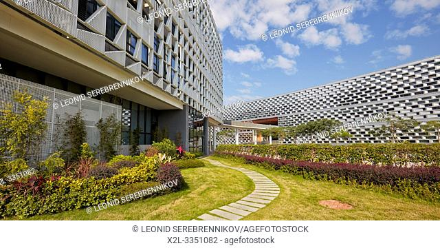 Modern buildings on campus of Southern University of Science and Technology (SUSTech). Shenzhen, Guangdong Province, China
