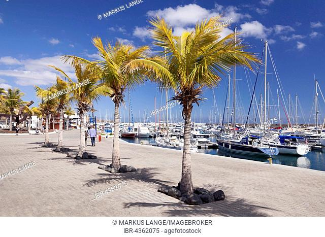 Waterfront, Puerto Calero Marina, Lanzarote, Canary Islands, Spain