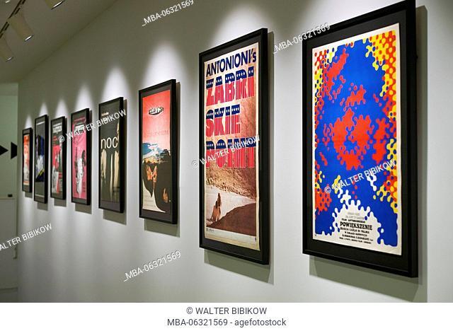 Netherlands, Amsterdam, Eastern Docklands, Eye Film Institute, cinema posters