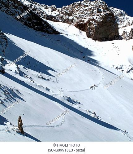 Gran Acarreo of Aconcagua (6292m),  in the Andes Mountains, Mendoza Province, Argentina