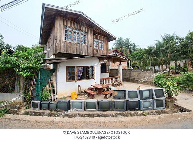 tons of televisions, Luang Prabang, Laos