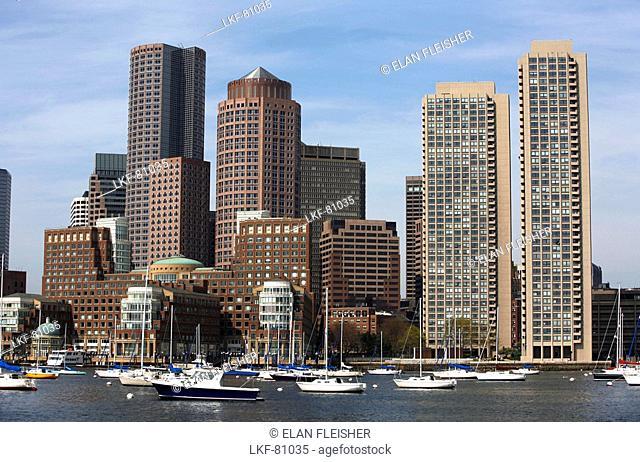 Boston skyline and harbor, Boston, Massachusetts, USA