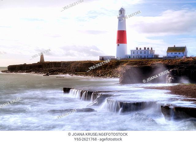 Portland Bill Lighthouse, Isle of Portland, Dorset, England, UK