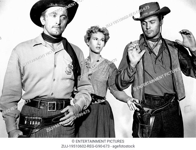 RELEASED: May 16, 1951 - Original Film Title: Along the Great Divide. PICTURED: KIRK DOUGLAS and VIRGINIA MAYO. (Credit Image: © Entertainment...