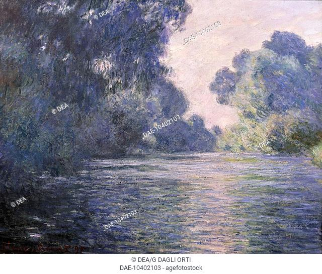 Branch of the Seine near Giverny, 1897 Claude Monet (1840-1926), oil on canvas, 73x93 cm.  Paris, Musée D'Orsay (Art Gallery)