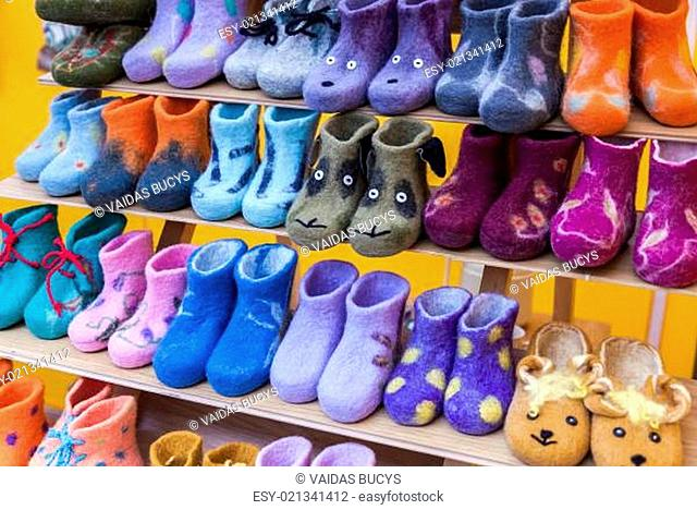 Colorful child felt boots for sale