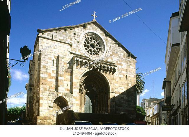 Church of Santiago, La Coruña. Galicia, Spain
