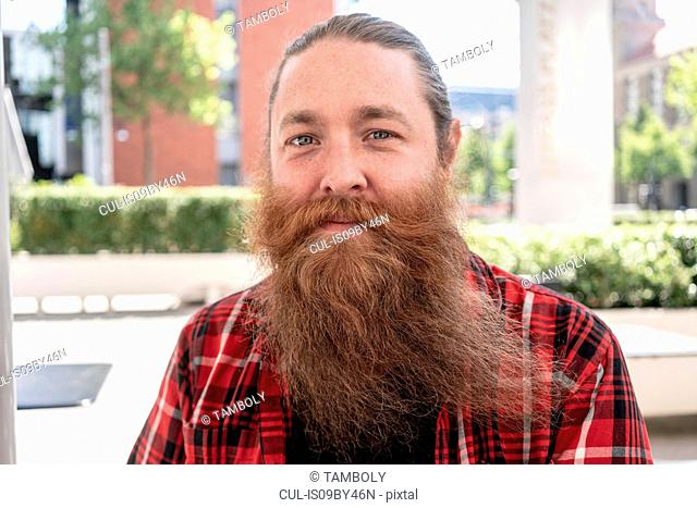 Male hipster with long beard