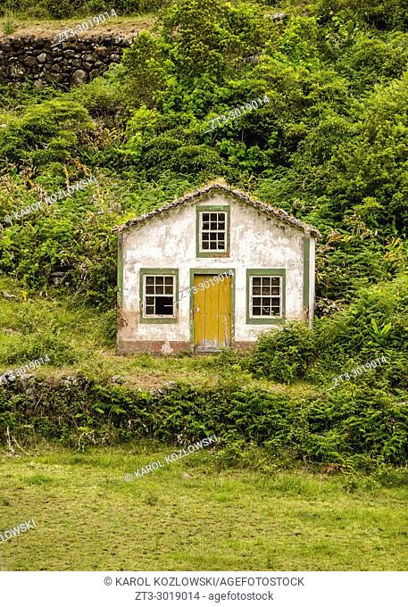 Traditional Building near Sao Lourenco, Santa Maria Island, Azores, Portugal