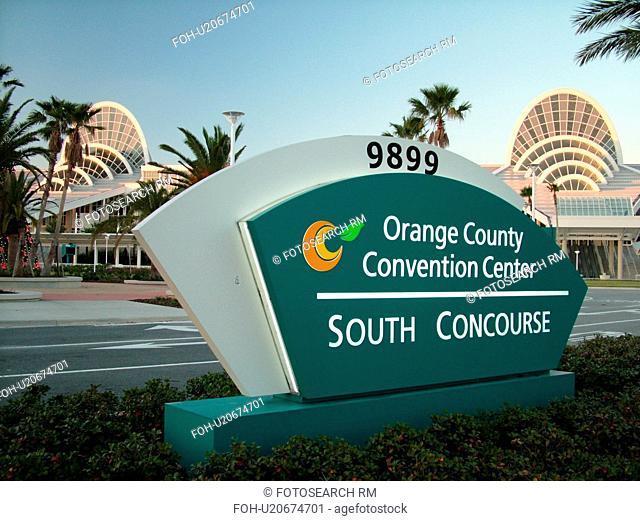 Orlando, FL, Florida, Orange County Convention Center, South Concourse, sign