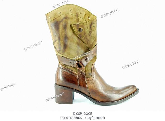 woman cowboy brown boot