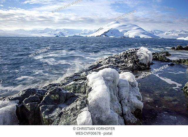 Antarctic, Antarctic Peninsula, glaciated mountains in Lemaire Channel