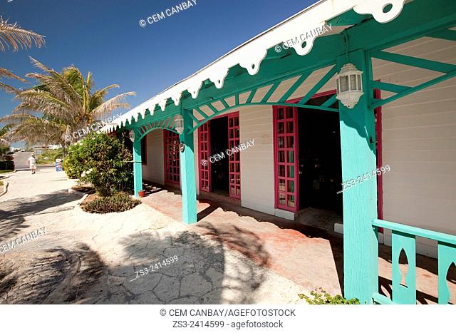 The colorful shops, Isla Mujeres, Cancun, Quintana Roo, Yucatan Province, Mexico, North America