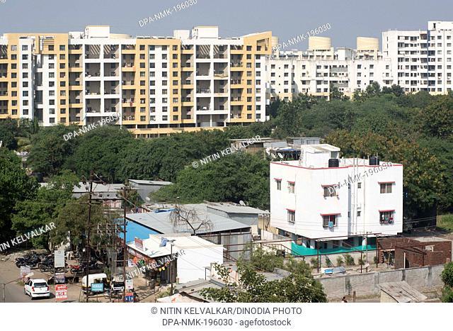 Residential area baner, pune, maharashtra, india, asia