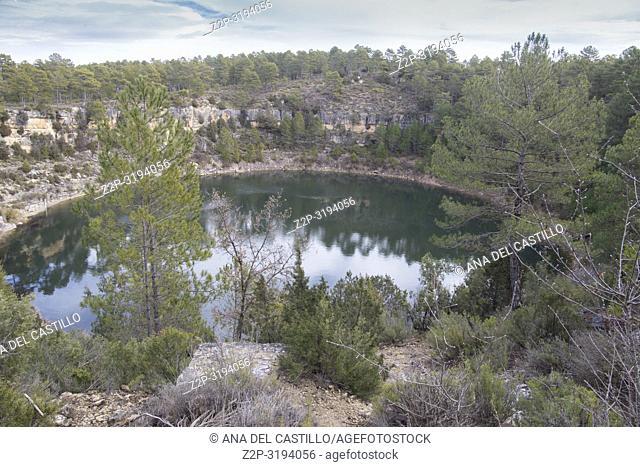 Torcas or dolinas lakes in Cuenca Castile La Mancha Spain Canada del Hoyo