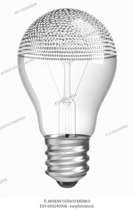 Lightbulb incrusted with diamonds