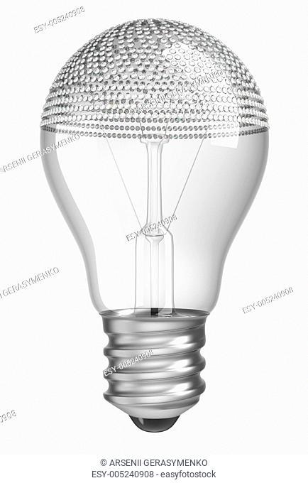 Lightbulb incrusted with diamonds