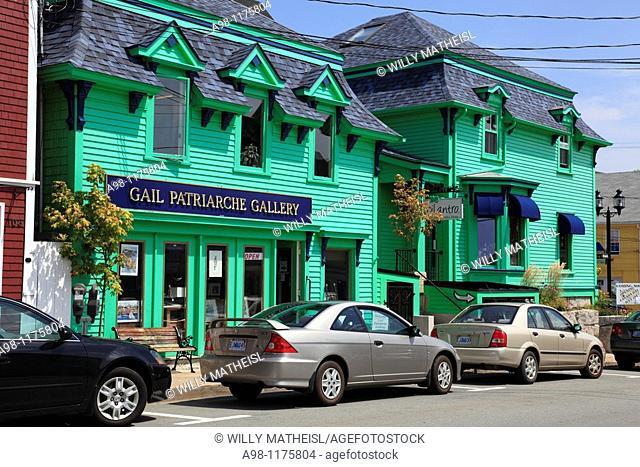 street scene at UNESCO World Heritage Site city of Lunenburg, Nova Scotia, Canada, North America