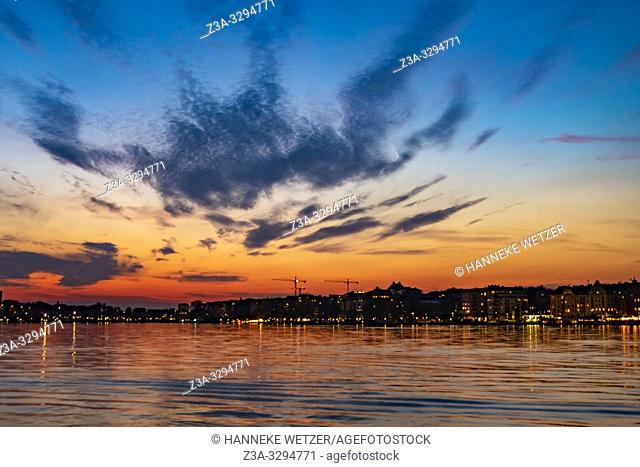 Skyline of Stockholm during the evening