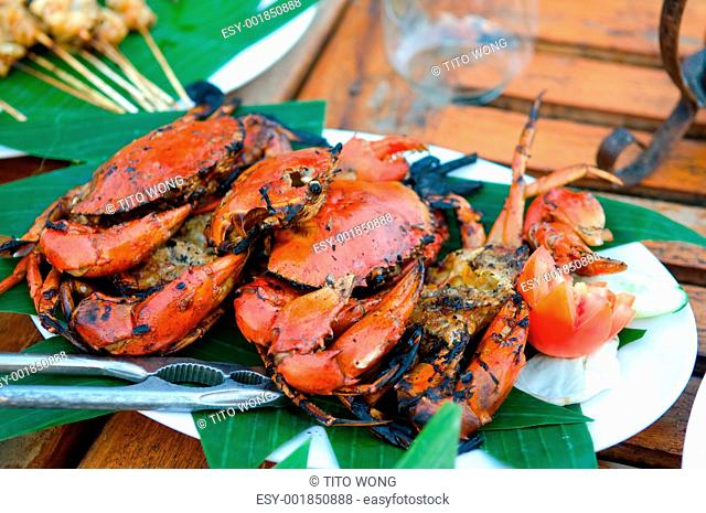 Fried crabs