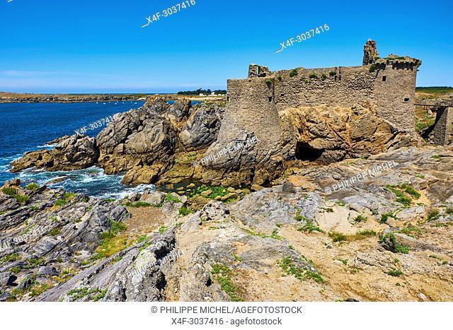 France, Vendée (85), Ile d'Yeu, le Vieux Chateau / France, Vendée, Yeu island, The Old Castle