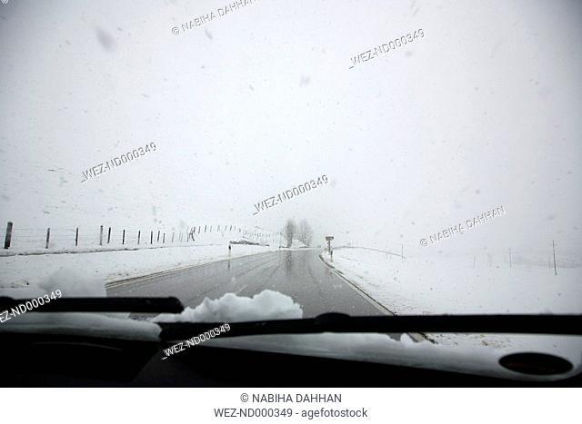 Germany, Windscreen of car