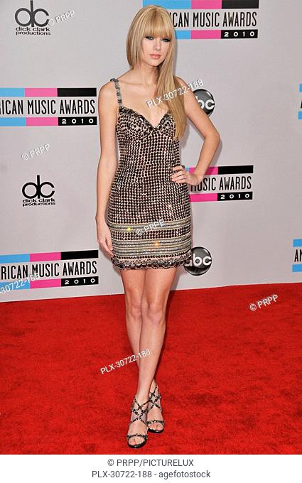 Taylor Swift at the 2010 American Music Awards - Arrivals held at the Nokia Theatre L.A. Live in Los Angeles, CA. The event took place on Sunday, November 21