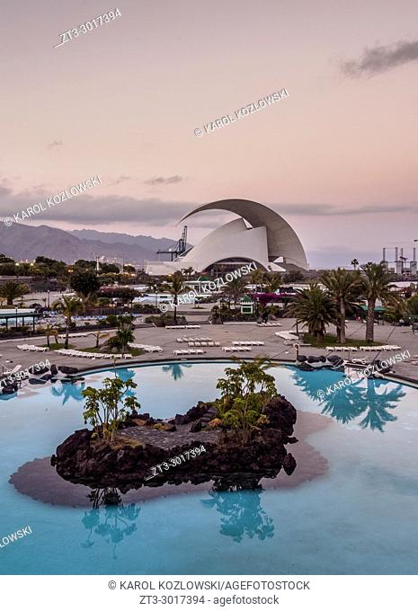 Parque Maritimo Cesar Manrique and Auditorium Adan Martin, Santa Cruz de Tenerife, Tenerife Island, Canary Islands, Spain