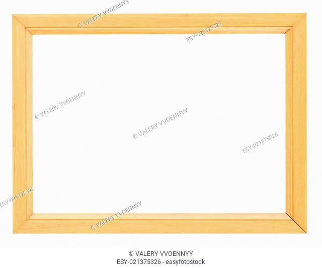 simple yellow wooden picture frame