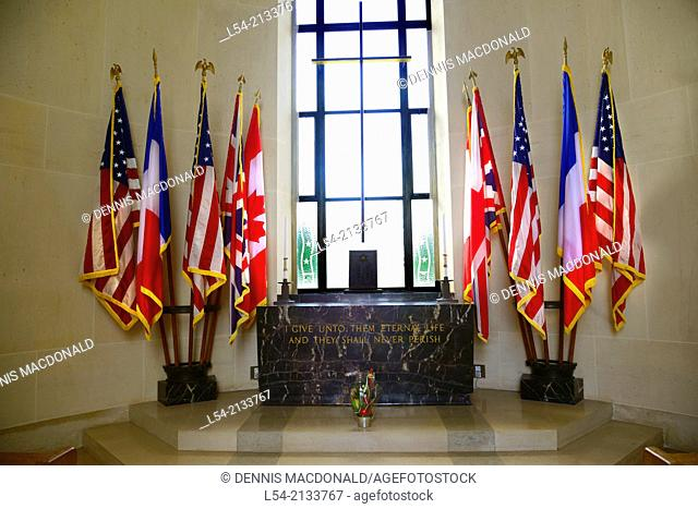 Chapel Normandy American Cemetery France Colleville Sur Mer FR Europe WWII