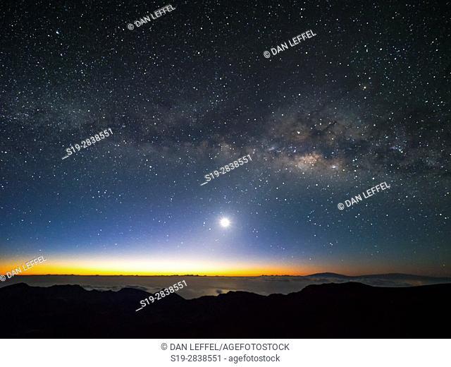 Maui Mt Haleakala Milky Way