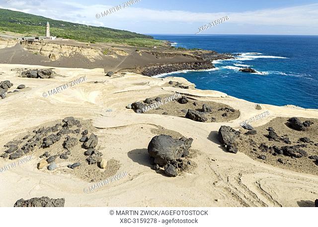 Nature Reserve Vulcao dos Capelinhos. Faial Island, an island in the Azores (Ilhas dos Acores) in the Atlantic ocean. The Azores are an autonomous region of...