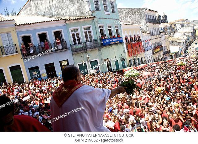 Saint Barbara Festival. Mix of afro-brazilian culture. Candomble and christianity. Salvador, Brazil
