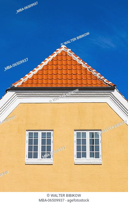Denmark, Jutland, Skagen, traditional town buildings