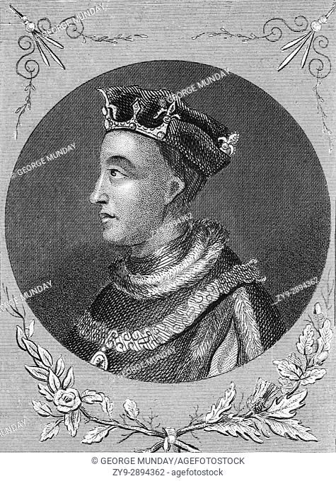 """Henry V (1386 â. """" 1422) was King of England from 1413 until his death at the age of 36 in 1422. He was the second English monarch who came from the House of..."""