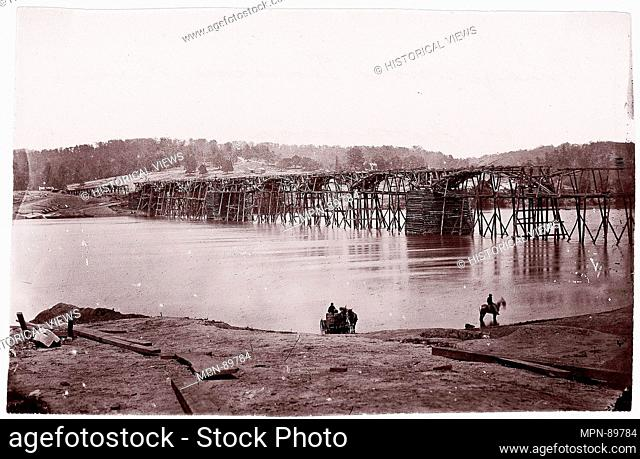 Bridge Across Tennessee River at Chattanooga. Former Attribution: Formerly attributed to George N. Barnard (American, 1819-1902); Artist: Mathew B