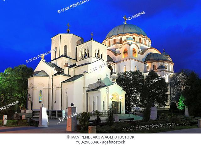 Cathedral of Saint Sava at Dusk, Belgrade, Serbia