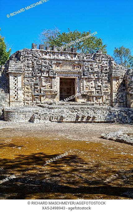 Monster Mouth Doorway, Structure II, Hochob Mayan Archaeological Site, Chenes Style, Campeche, Mexico
