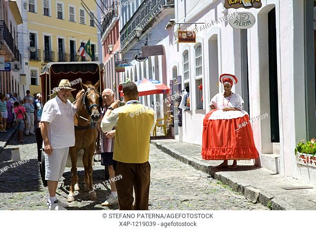 Old city center, Pelourinho. Salvador, Brazil