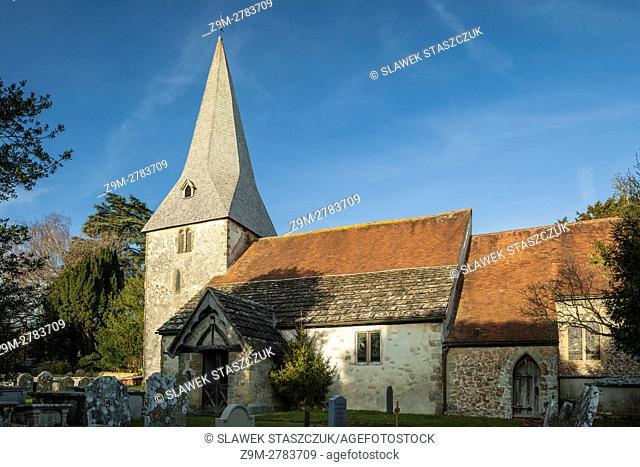 Bury village church, West Sussex, England