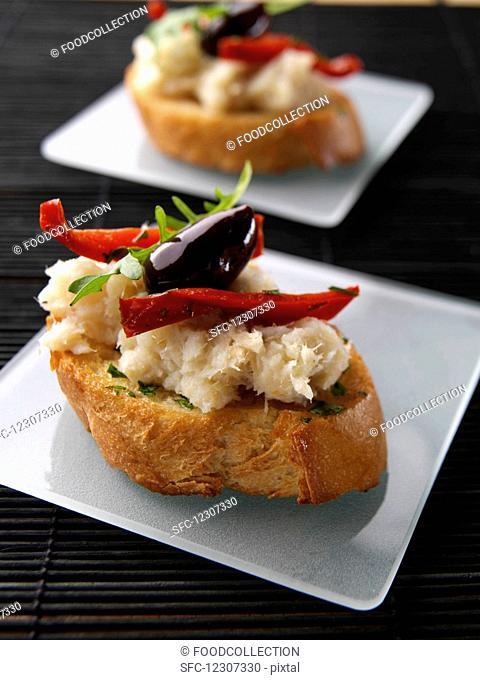 Brandade of salted cod bruschetta