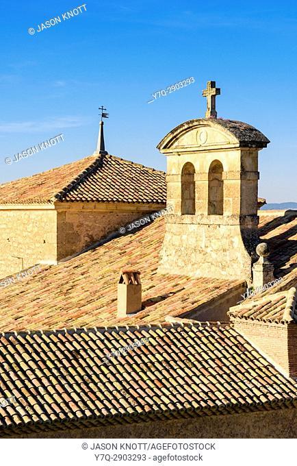 Roof top detail of the old Convento de las Carmelitas Descalzas, Cuenca, Castilla-La Mancha, Spain