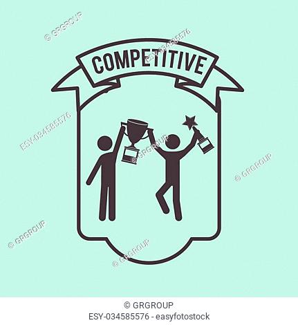 competitive spirit design, vector illustration eps10 graphic