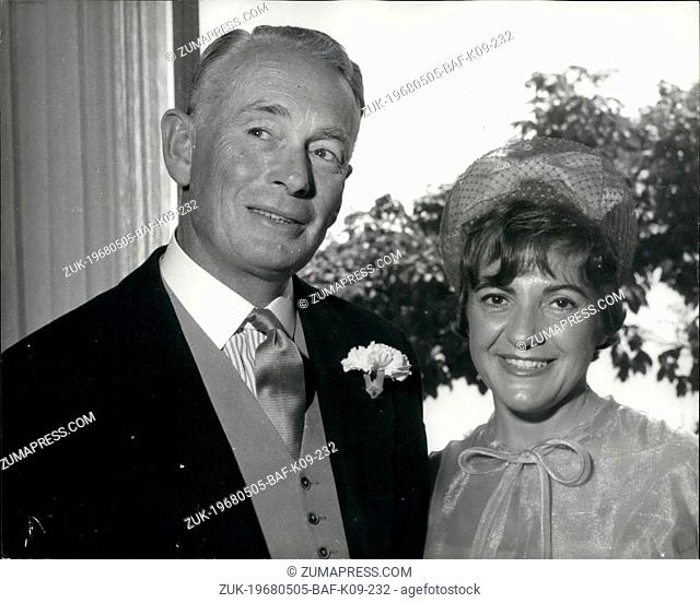 May 05, 1968 - Sir Frederick Crawford has Passport Confiscated.: Sir Frederick Crawford, 62, a former Governor of Uganda