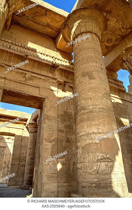 View from the Outer Hypostyle Hall toward the Sanctuaries, Temple of Haroeris and Sobek, Kom Ombo, Egypt