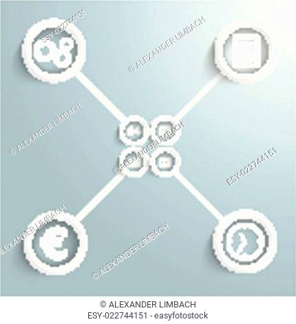 Four White Rings Banners Cross PiAd