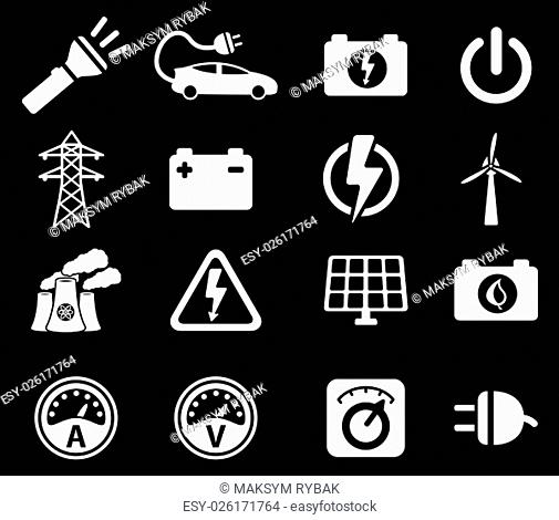 Electricity simply symbol for web icons and user interface
