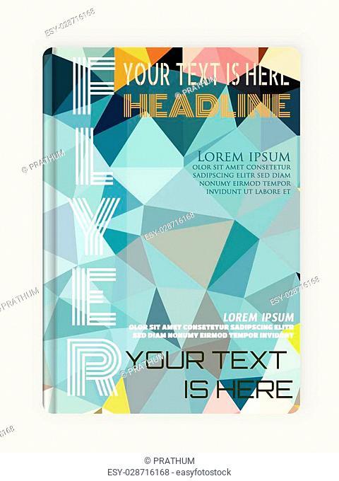 Flyer, Brochure Design Template Geometric